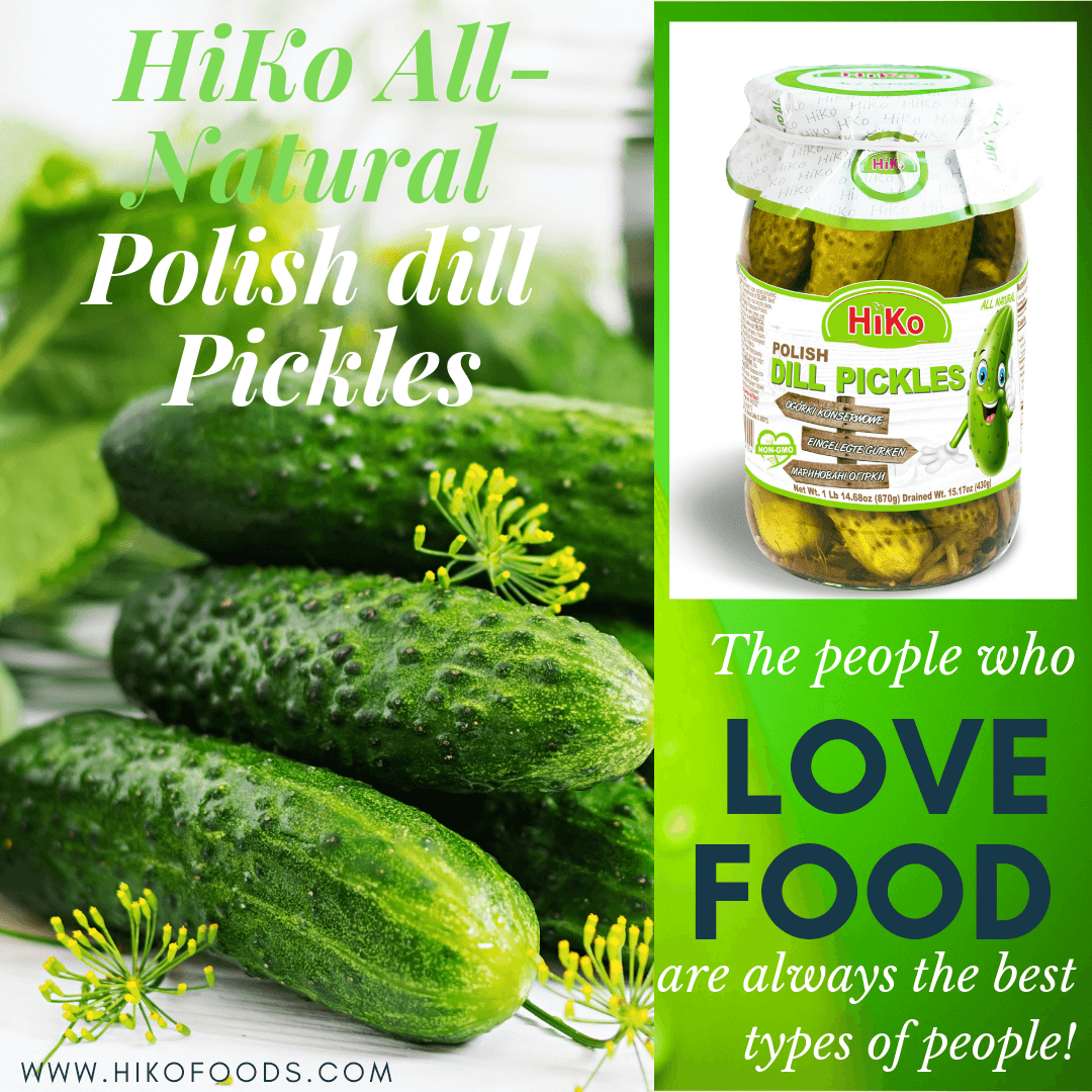 1.HiKo All Natural Polish dill Pickles 7